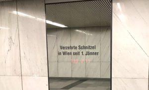ウィーンの今年のシュニッツェル消費量