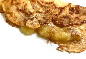 リンゴのピュレーとシナモンシュガーのバージョン