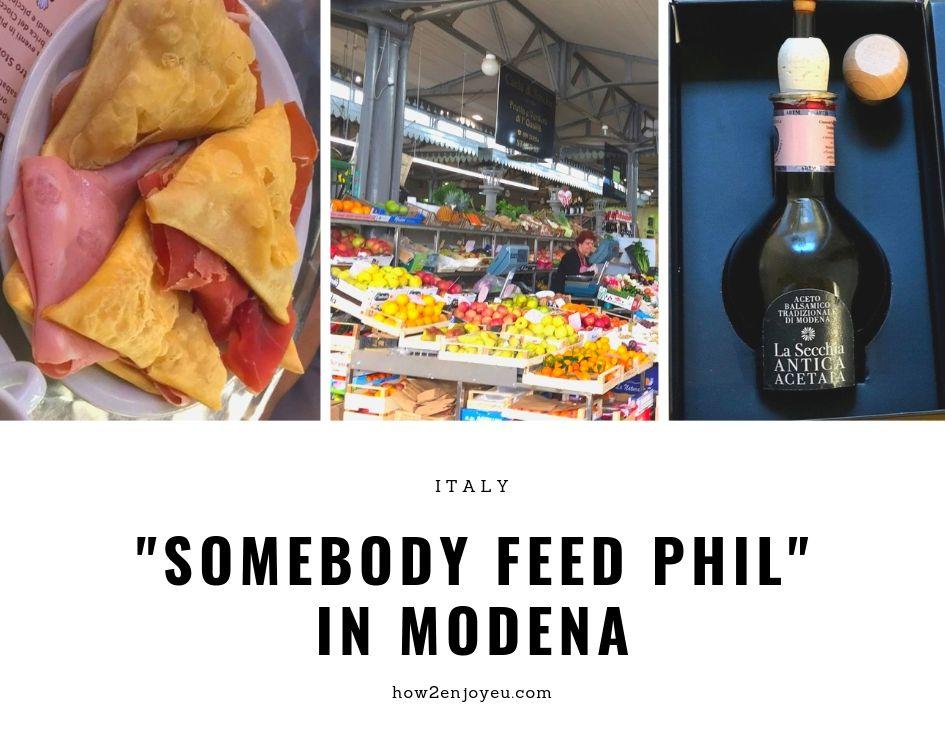 『腹ぺこフィルのグルメ旅』モデナ聖地巡礼、アルビネッリ市場は美味しいものがたくさん