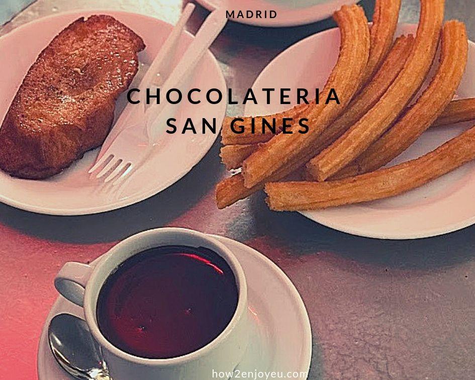 本場のチュロスをまず、チョコラテリア・サン・ヒネスで食べたら