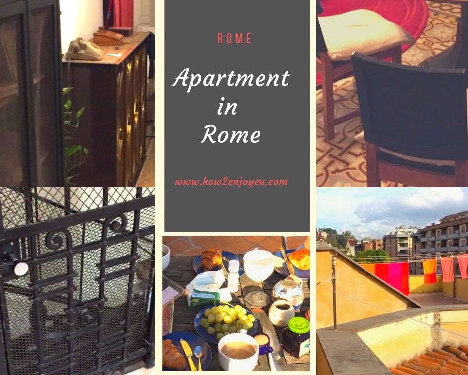 ローマの民泊アパート、ホテルより安いのに屋上テラス付きでお部屋も広々、しかもオシャレ!