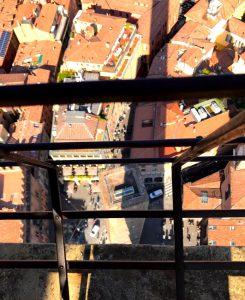 斜塔の屋上からの眺め