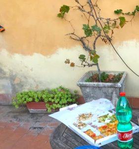 ローマでの最初の食事