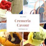 ボローニャ、ブランドショップ街にあるオシャレなジェラート屋さん、クレメリア・カヴール【Cremeria Cavour】