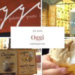 ボローニャ、Mercato Delle Erbeの側のジェラート屋さんオッジ 【Oggi】