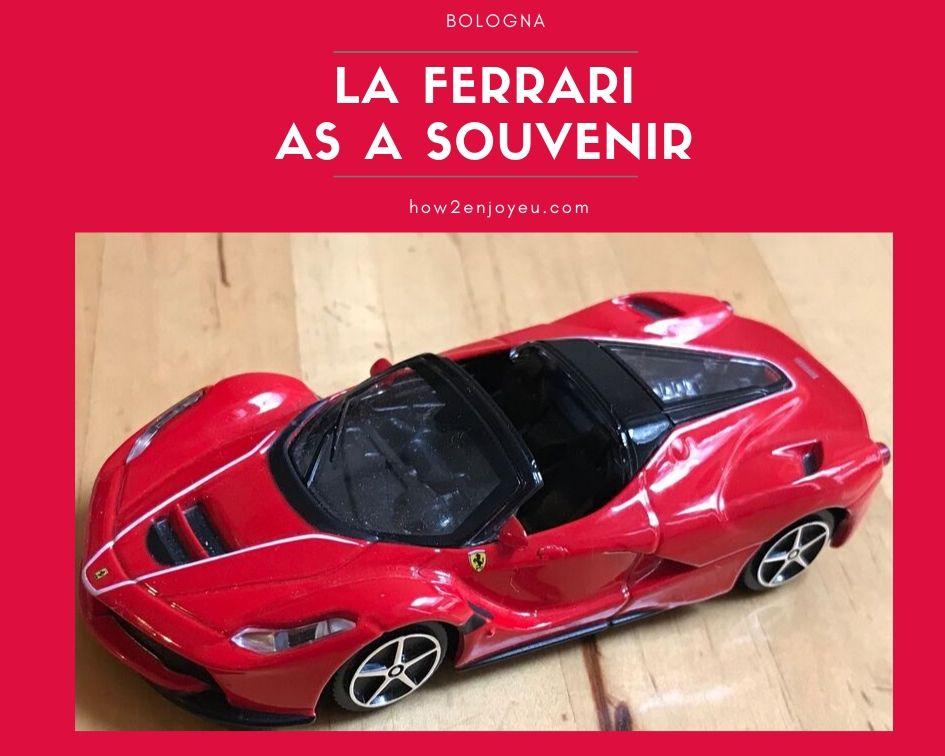 「イタリア土産にフェラーリのおもちゃを」と思ったら庶民価格ではなかった・・・