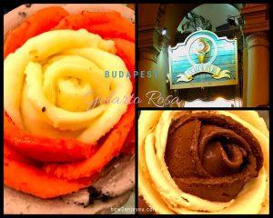 ブダペストのGelarto Rosa、バラの花のように可愛いジェラート