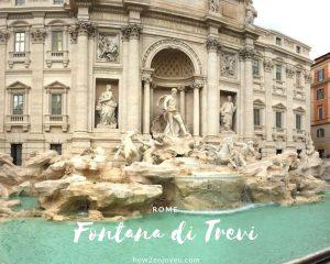 ローマ、トレビの泉でコインが投げられなかった・・・
