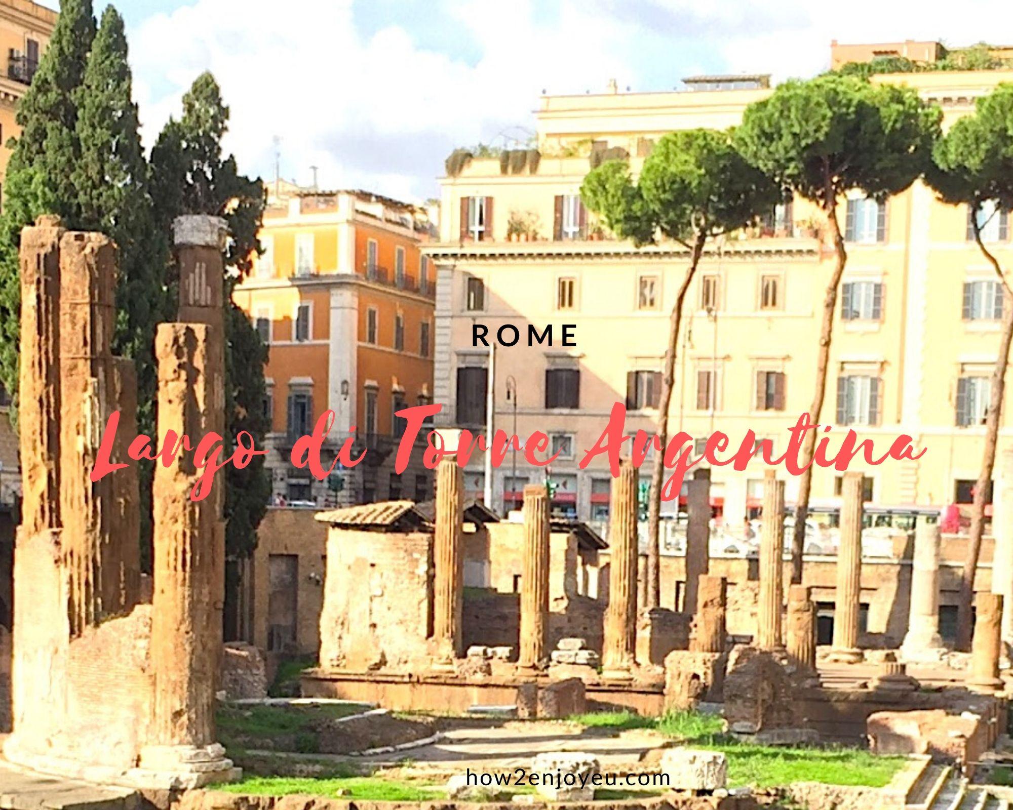 大混雑のローマ、トッレ・アルジェンティーナ広場に癒された