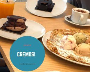 ポルトのカフェ、【Cremosi】はアイスで有名、でも、ケーキも美味し過ぎる!