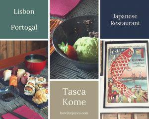 リスボン、Tasca Komeは「日本食レストラン」というより、「日本のレストラン」