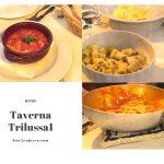 ローマの典型的なパスタをトラステヴェレのレストラン、Taverna Trilussaで食べた