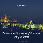 プラハで泊まった素敵なお部屋、格安だったのに窓からプラハ城も見えて最高だった