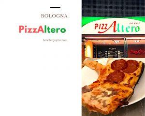 ボローニャの超有名ピザ屋「Pizzeria Altero」あれっ、看板は「PizzAltero」?