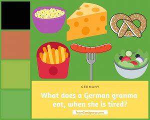 ゲルマン民族のおばあちゃん、疲れた時には何、食べる?
