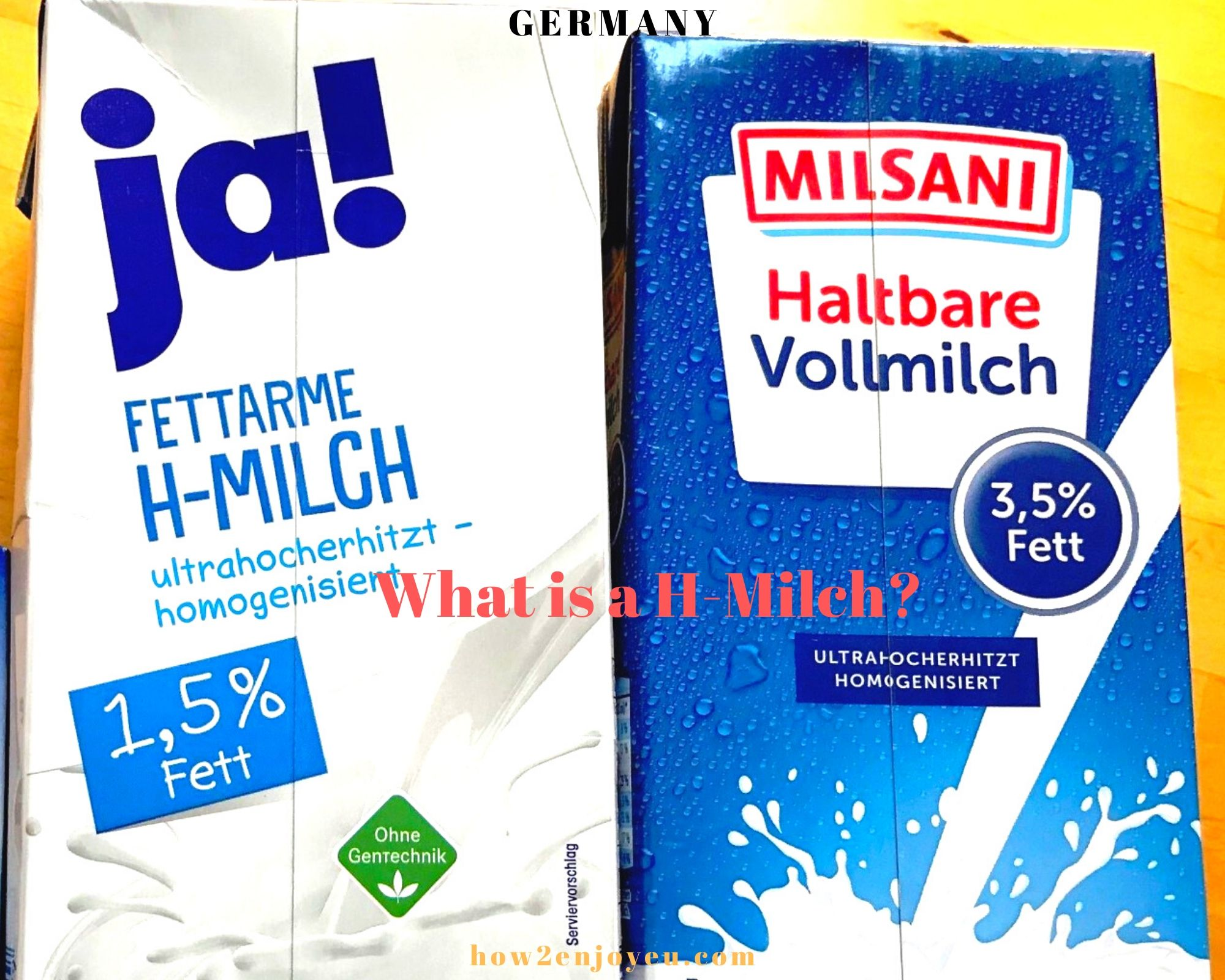 Read more about the article ドイツの牛乳は常温で半年、保存可能、しかも日本円で100円以下と安い!【H-Milch】