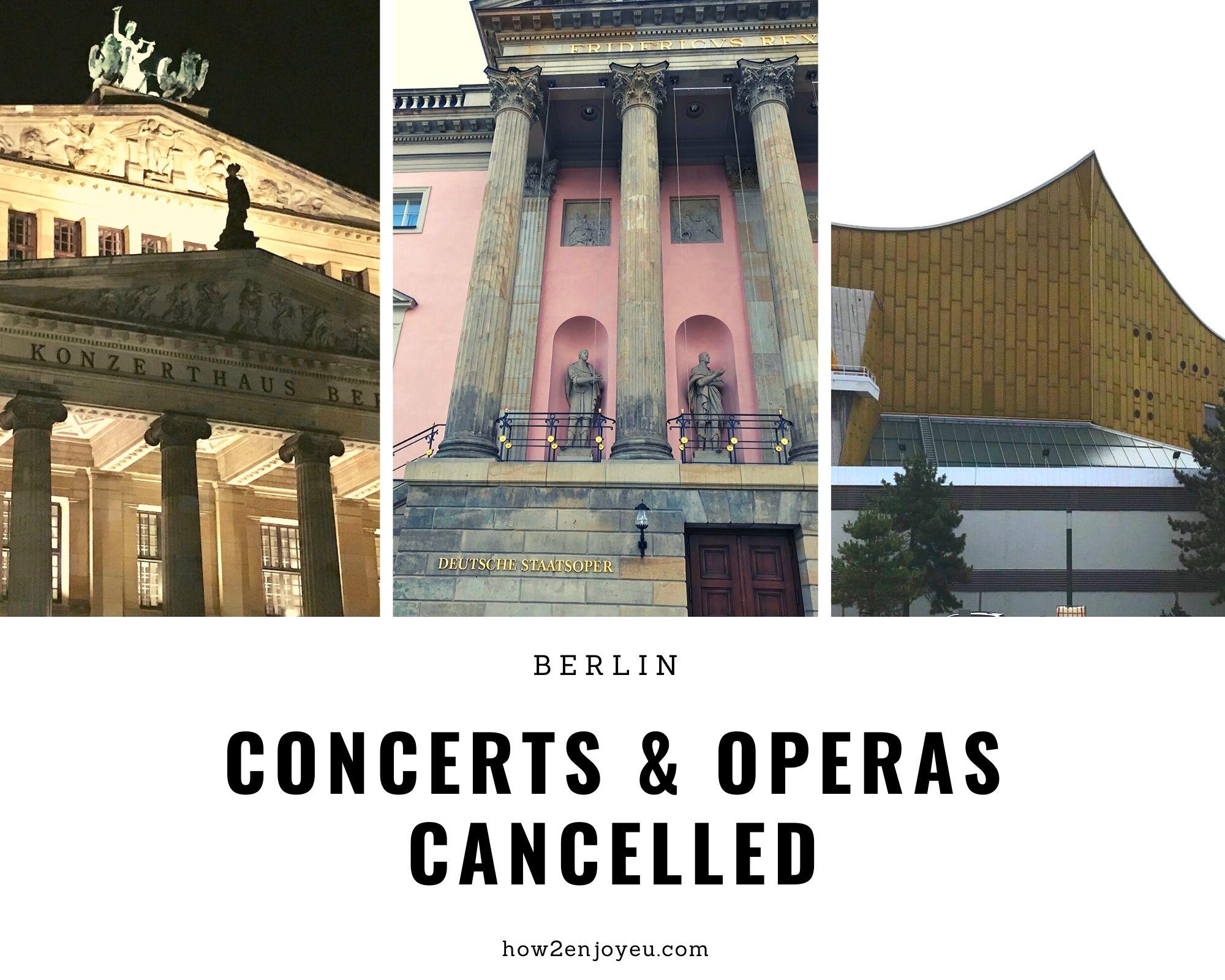 Read more about the article コロナの感染拡大を防ぐため、ベルリンの国立歌劇場やベルリン・フィルなどの公演が中止に