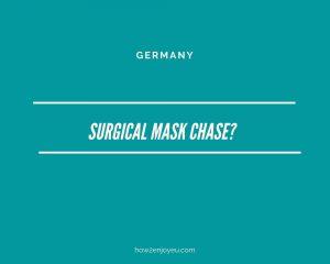 ベルリンが注文したマスク20万枚が押収される?