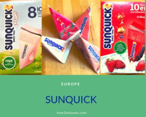 お家の冷凍庫で凍らせて食べるアイス「SUNQUICK」はヨーロッパのチューペット?