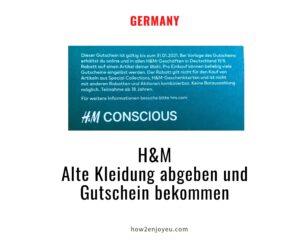 リサイクルでもらえるH&Mの割引クーポン、日本とドイツ、どちらがお得?
