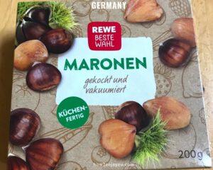 REWEの「MARONEN」なら、栗ごはんをドイツで手軽に楽しめる