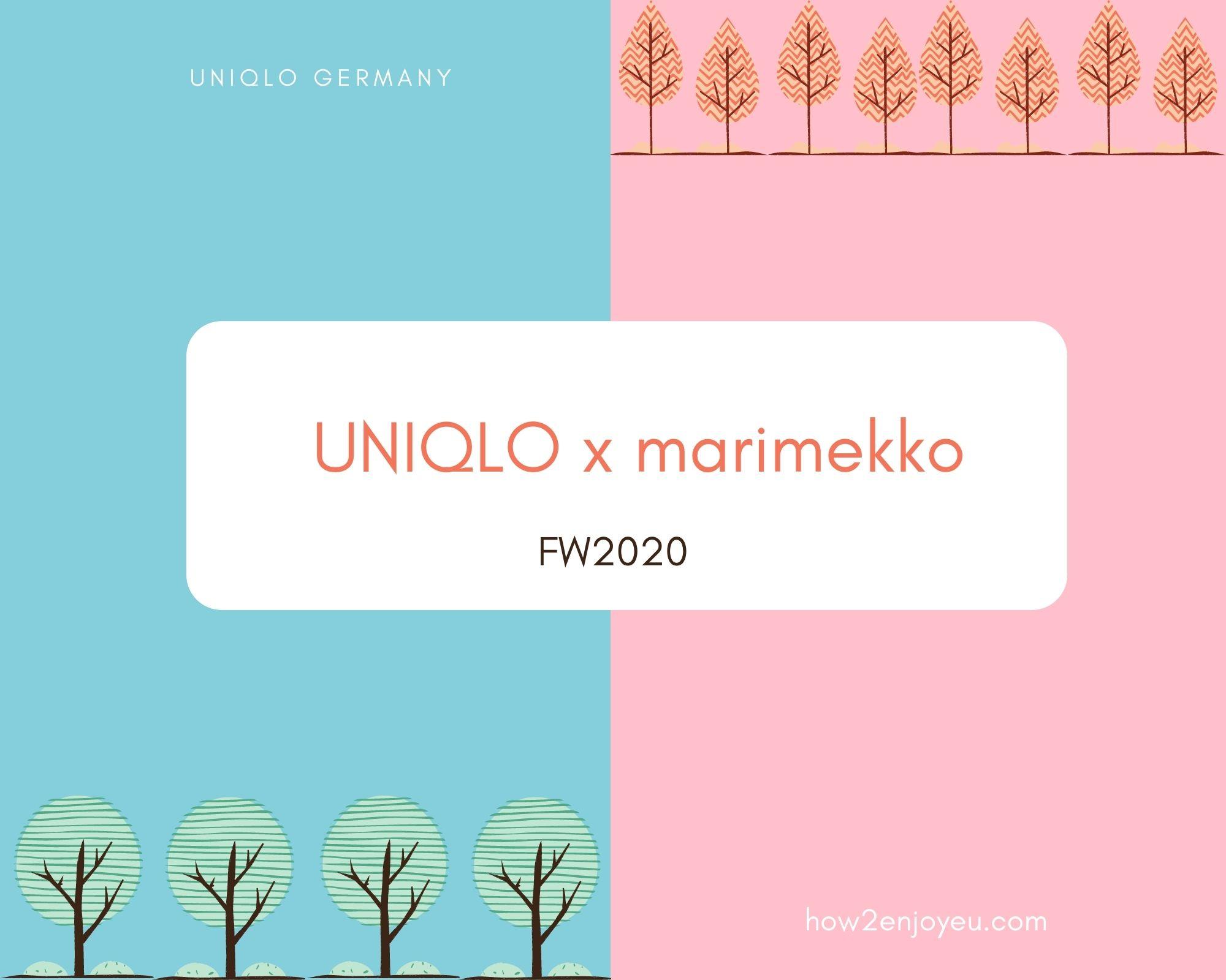 マリメッコとユニクロのコラボ、2020年秋冬コレクション