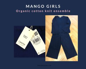 Read more about the article MANGO GIRLSのオーガニック・コットンのセットアップ、まさかのオバさんフィット?!