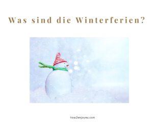【ドイツの冬休み】は日本の冬休みとは違う