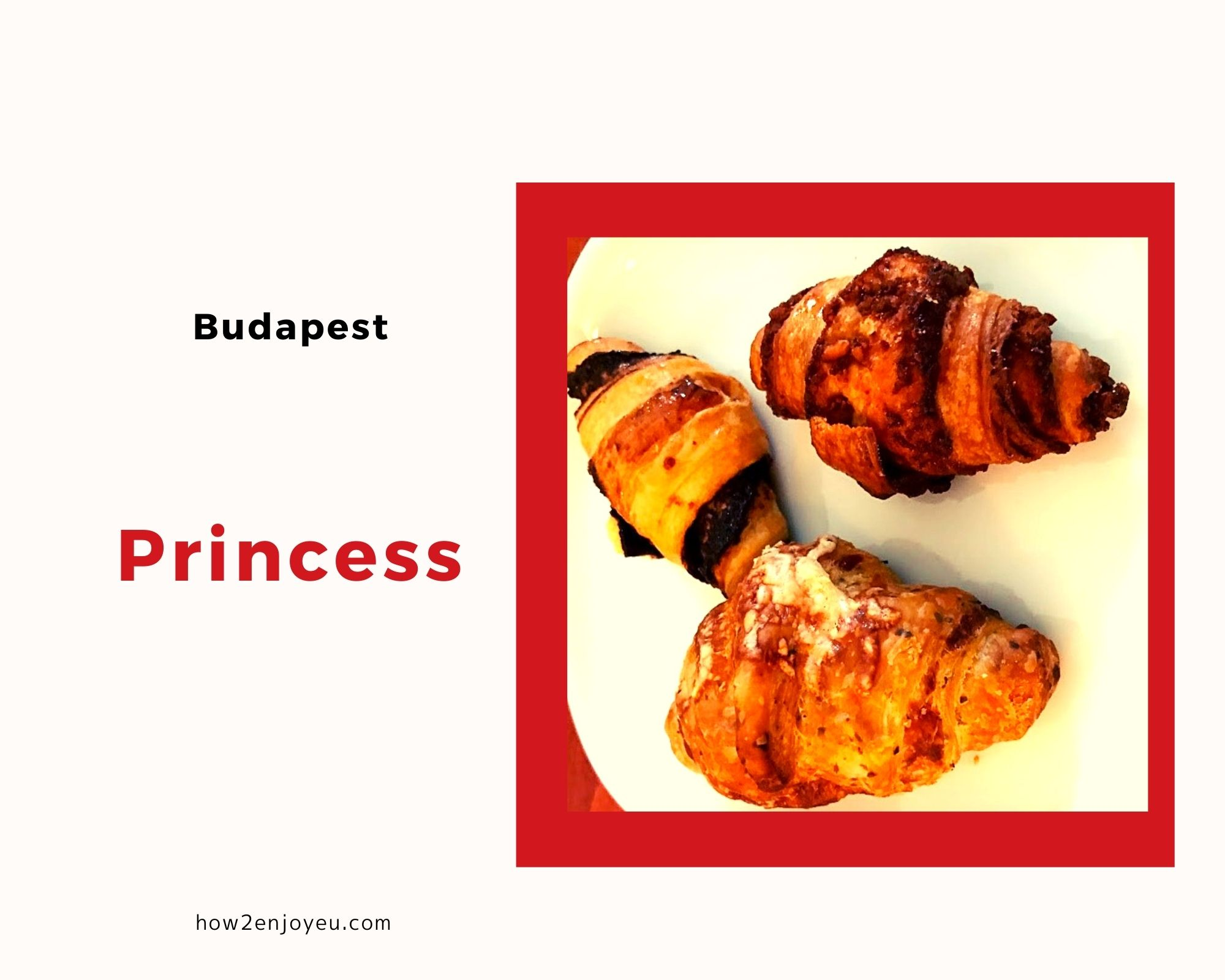 ブダペスト、地下鉄の駅構内にある【PRINCESS】の量り売りクロワッサン